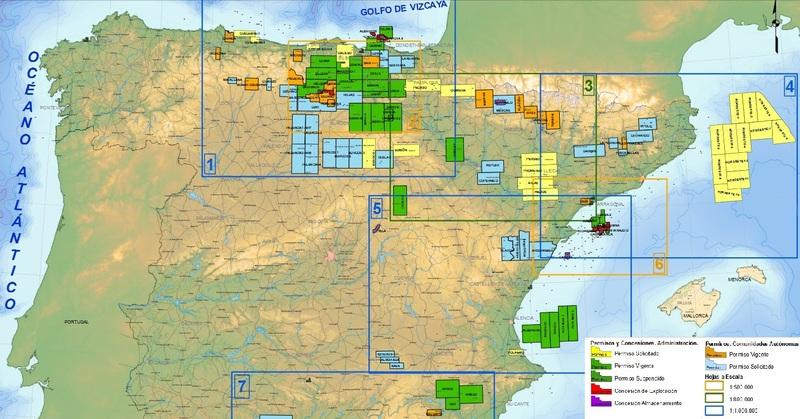 mapa fracking